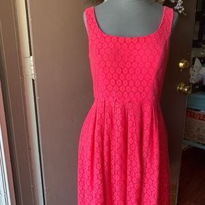 Hot pink Donna Morgan lace eyelet dress sz 6